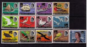 PITCAIRN ISLAND Sc# 72-84 MNH FVF Set 13 Birds Vessels