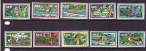 Niue-Sc#222-31-unused NH set-Definitives-1978-