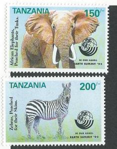 Tanzania #958 &960  150sh,200sh  Animals (MNH) CV$6.50