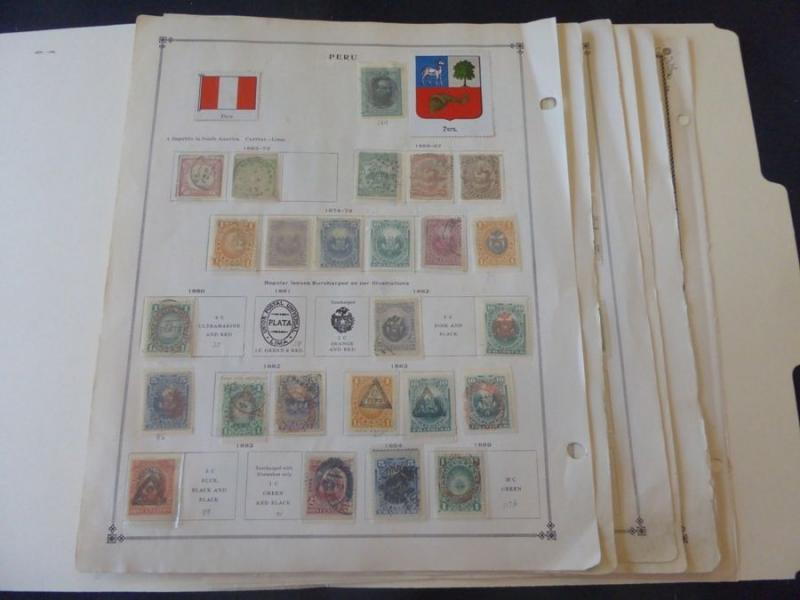 Peru 1862-1940 Fabulous Collection of Mint/Used Stamp Collection on Scott Int A