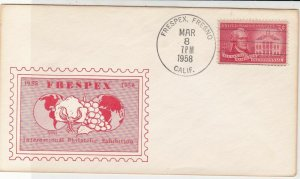 U. S. Frespex Intern. Philatelic Ex Illust. Architects 1958 Stamp Cover Rf 37619