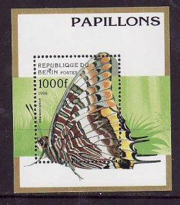 Benin-Sc#807-unused NH sheet-Insects-Butterflies-1996-