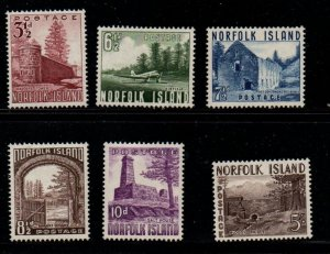 Norfolk Island Sc 13-18 1953 views stamp set mint