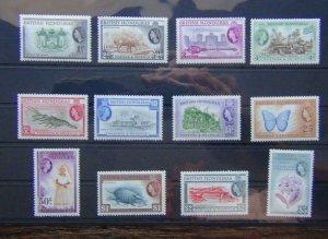 British Honduras 1953 - 1962 set to $5 LMM SG179 - SG190