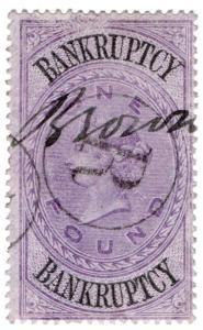 (I.B) QV Revenue : Bankruptcy £1 (1873)