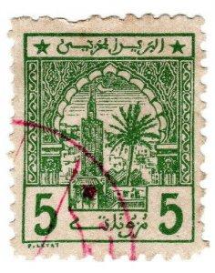 (I.B) French Morocco Local Post : Cherifien 5c