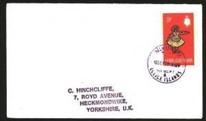 GILBERT & ELLICE IS 1971 cover to UK : NIKUNAU violet cds..................85095