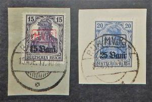 Romania 3N1-2. 1917 15b on 15pf, 25b on 20pf Germania, used