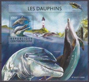 2015 Central African Republic 5659/B1353 Marine fauna - Dolphins 14,00 €