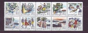 Z613 JLstamps 1988 sweden set mnh #1681-90 designs