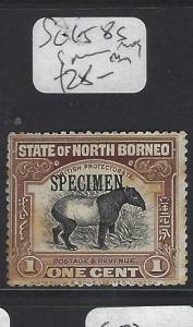 NORTH BORNEO  (P1601BB)  1C TAPIR  SG 158S  SPECIMEN  MOG