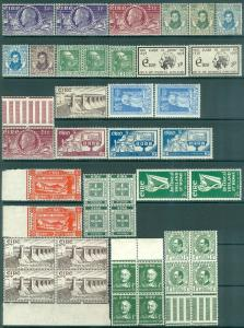 IRELAND : Miscellaneous grouping of Mint. Majority are Never Hinged.