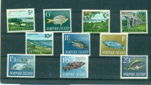 Norfolk Is. - Sc# 49-60. 1962-4 Definitives. MNH Cplt. $15.35.