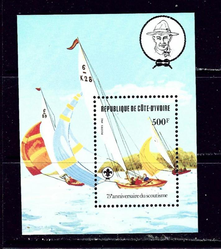 Ivory Coast 635 MNH 1982 Scouting Year S/S