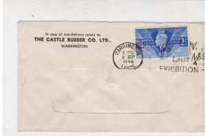 G.B. 1946 From The Castle Rubber Co Ltd W/ton Exh Slogan Stamps Cover Ref 33303