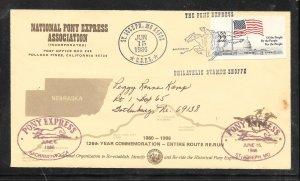 Just Fun Cover #2116 Sacramento - St Joseph Pony Express 126 Years Comm (my4429)