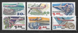Czechoslovakia C77-82 50th Aviation set MNH