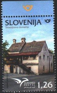Slovenia. 2018. 1315. Residential building Slovenia, Mediterranean. MNH.