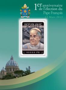 GUINEA 2014 SHEET POPES FRANCIS RELIGION