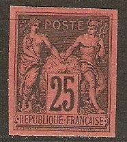 French Colonies 44 Yv 43 MNG XF 1878 SCV $600.00
