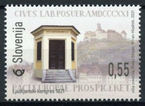 Slovenia Historical Events Stamps 2021 MNH Congress of Laibach 200 Years 1v Set