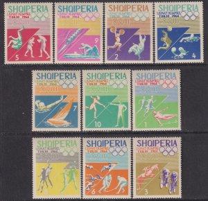 1964 Albania 18th Olympic Games Tokyo complete set MNH Sc# 754 / 763 CV $6.10