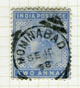 INDIA; POSTMARK fine used cancel on QV issue, Mominabad