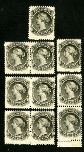 Nova Scotia Stamps # 8 F-VF Fresh lot of 10 NH Scott Value $300.00
