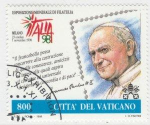1998 Congiunta Italia Vaticano 1 Valore Usato A20P6F250