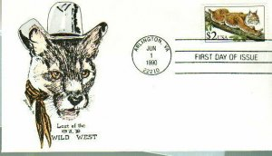 Paw Prints 2482 Bobcat with Little Hat & Scarf $2 Stamp