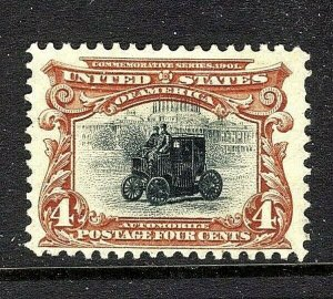 [ST]   US #296 Mint-OG 1901 ~4c PAN-AM BI-COLOR EXPO  Issue..Ships FREE!