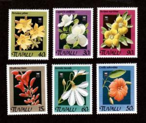 Tuvalu 549-554 Mint NH MNH Flowers!