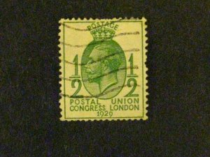Great Britain #205a used watermark sideways short perf at top c203 358