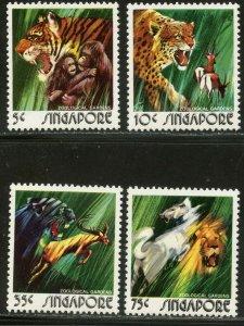 SINGAPORE Sc#202-205 1973 Zoo--Wild Animals Complete Set OG Mint NH