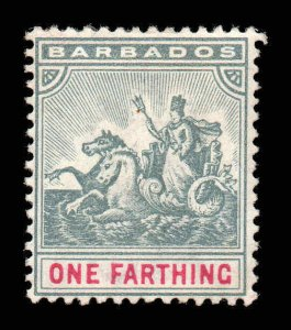 Barbados 1892 ¼d Seal of Colony wmk crown CA SG 105 mint