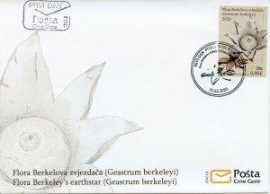 Montenegro Mushrooms Stamps 2020 FDC Berkeley's Earthstar Fungi Nature 1v Set