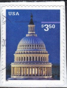 USA #3472  $3.50 **USED** CAPITOL DOME  (9)