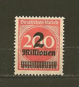 Germany 269 Surcharged Numeral MNH