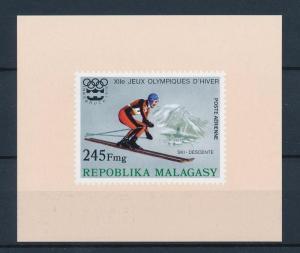 [55767] Madagascar 1975 Olympic games Skiing MNH Sheet