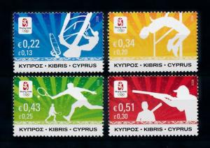 [76773] Cyprus 2008 Olympic Games Surfing Tennis Shooting Athletics MNH