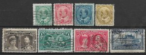 COLLECTION LOT OF 8 CANADA KE7 ERA STAMPS 1903+ CV+$96