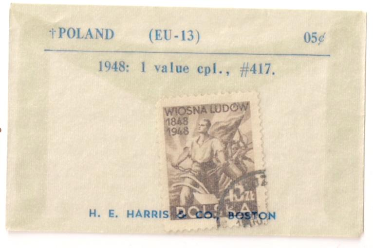 POLAND: #417 used in original H. E. Harris envelope