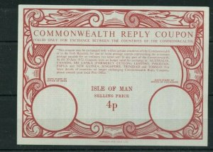 ISLE OF MAN 4p commonwealth RC - International Reply Coupon IRC