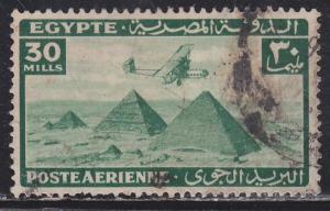 Egypt C17 Airplane Over Giza Pyramids 1933