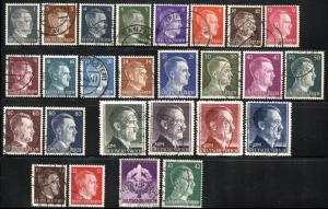 GERMANY Deutsches Reich SC# 506-529 Stamps Postage Collection Hitler USED