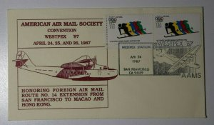 American AirMail Society  WESTPEX Sta San Francisco CA 1987  Philatelic Expo