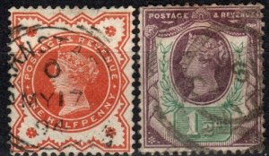 Great Britain #111-2  F-VF Used CV $9.35 (X1185)