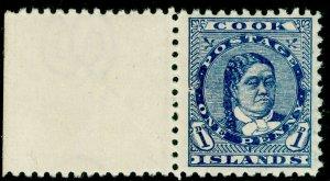 COOK ISLANDS SG12, 1d blue, NH MINT.