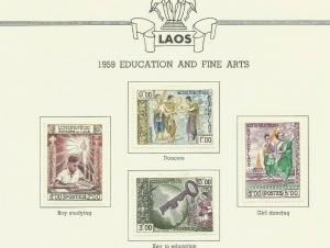 LAOS 1959 SCOTT 56-9 MH