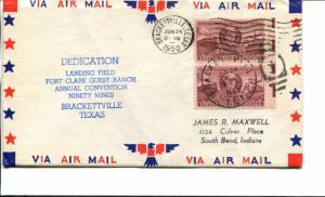 USA SC# 993 Landing Field Fort Clark Guest Ranch Dedication Patriotic Cover